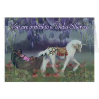 Baby Shower Invitation Card - African Fairy And Un