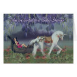 Baby Shower Invitation card fantasy Fairy