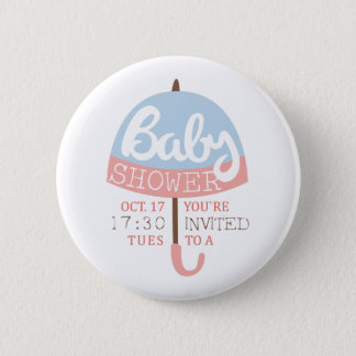 Baby Shower Invitation Design Template With Umbrel Button