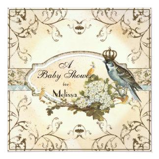 Baby Shower Invitation - Enchanted Woodland Birds