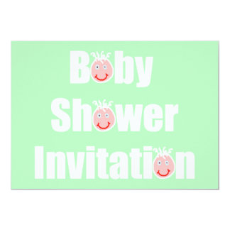 Baby Shower Invitation Expecting baby face