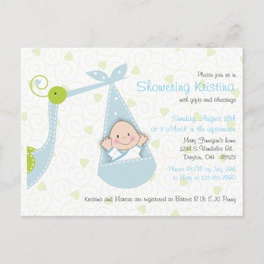 Baby Shower Invitation For Boy