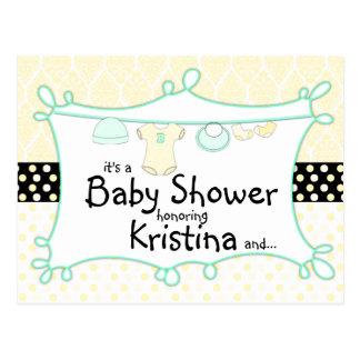 Baby Shower Invitation - Gender Unknown Postcard