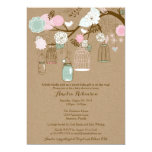 Baby Shower Invitation - Hanging Cages & Jars Personalized Invites