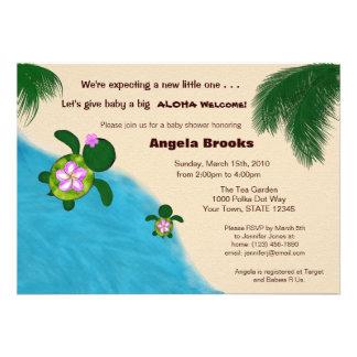 Baby Shower Invitation (Honu) Adorable Turtle