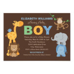 Baby Shower Invitation | Jungle Animals for Boy