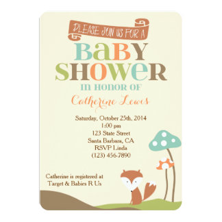 Baby Shower Invitation-Little Fox Card