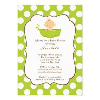Baby Shower Invitation Little Pea Pod Girl