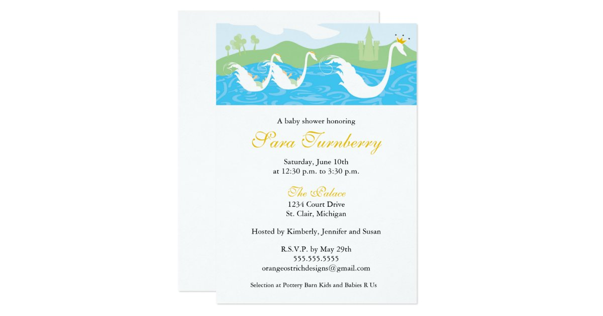 baby shower invitation little twin royalty zazzle