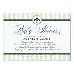 Baby Shower Invitation | Mint Paris France Theme