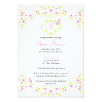 Baby Shower Invitation - Monogram