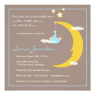 Baby Shower Invitation Moon and Stars