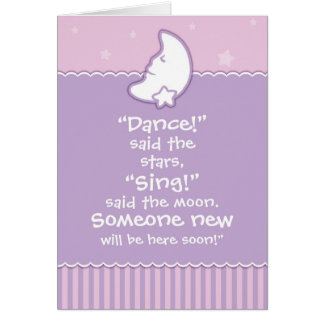 Baby Shower Invitation - Moon and Stars Greeting Cards