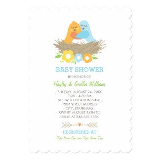 Baby Shower Invitation | Nesting Birds Theme