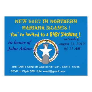 Baby Shower Invitation on Flag of Northern Mariana