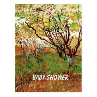 Baby shower invitation, Orchard in Blossom Post Card