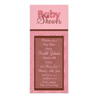 Baby Shower Invitation - Pink And Brown