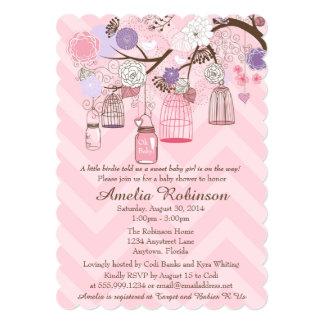 Baby Shower Invitation - Pink Purple Cages & Jars