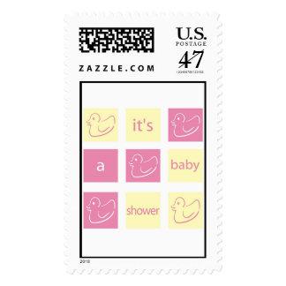 Baby Shower Invitation Postage stamp