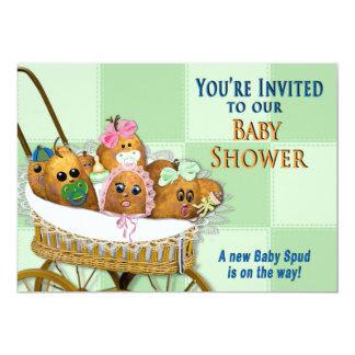 BABY SHOWER INVITATION - POTATO FAMILY COLLECTION