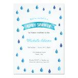 Baby Shower Invitation Raindrops