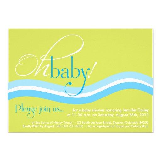 baby shower invitation retro funky unique 5 x 7 invitation card
