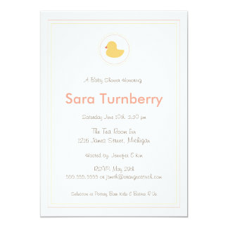 Baby Shower Invitation - Rubber Ducky