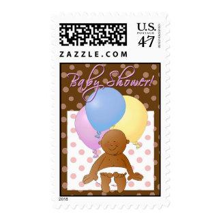 Baby shower invitation stamp. postage