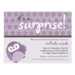 BABY SHOWER INVITATION :: surprise owl 1 Postcard
