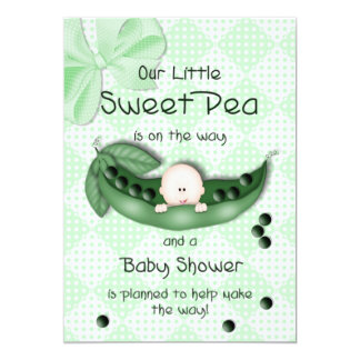 BABY SHOWER INVITATION - SWEET PEA