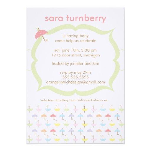 baby shower invitation umbrella zazzle