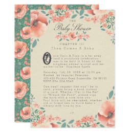 Vintage floral baby shower invitations announcements zazzle baby shower invitation vintage floral storybook filmwisefo Image collections