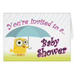 Baby Shower Invitation with Baby Chick Cards