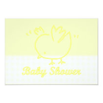 Baby Shower Invitation with baby chick chicken