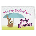 Baby Shower Invitation with Baby Rabbit Cards