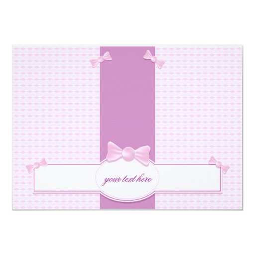 Baby shower invitation with candies