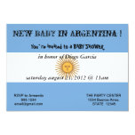"""Baby Shower Invitation with Flag of Argentina 5"""" X 7"""" Invitation Card"""