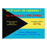 "Baby Shower Invitation with Flag of Bahamas 5"" X 7"" Invitation Card"