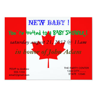 Baby Shower Invitation with Flag of Canada