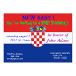"Baby Shower Invitation with Flag of Croatia 5"" X 7"" Invitation Card"