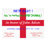 Baby Shower Invitation with Flag of England
