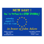 Baby Shower Invitation with Flag of European Union