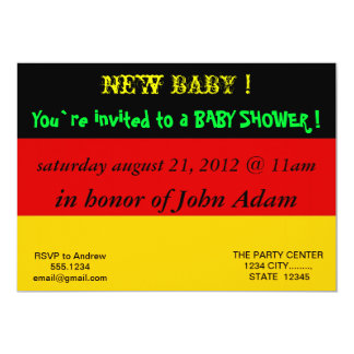 Baby Shower Invitation with Flag of Germany
