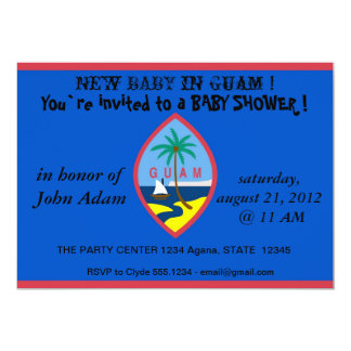 Baby Shower Invitation with Flag of Guam