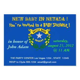 Baby Shower Invitation with Flag of Nevada