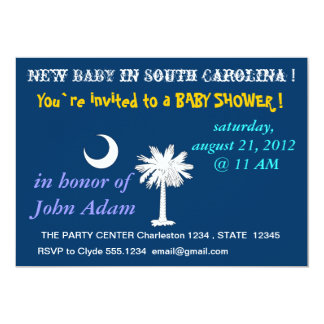 Baby Shower Invitation with Flag of South Carolina