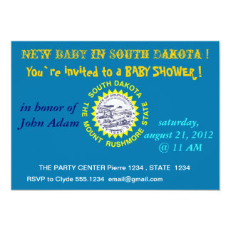 Baby Shower Invitation with Flag of South Dakota