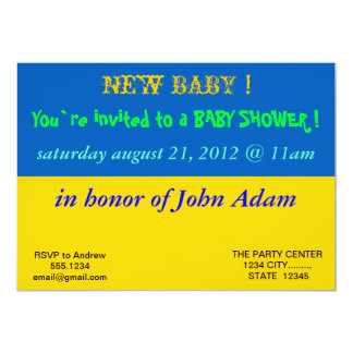 Baby Shower Invitation with Flag of Ukraine