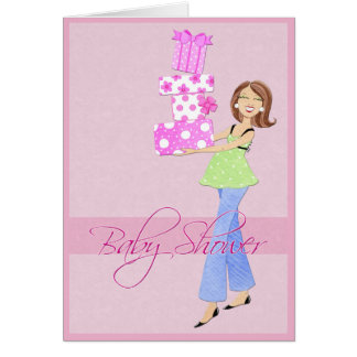 Baby Shower Invitation with Girl Presents Cards