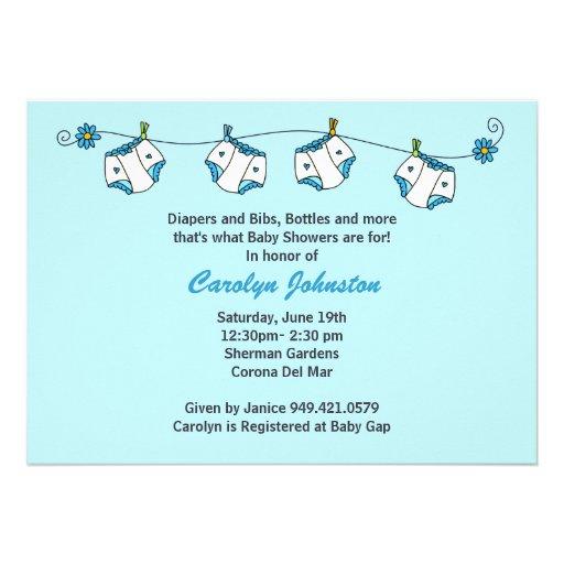 baby shower invitation with matching envelopes 5 x 7 invitation c